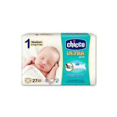 Scutece Chicco Ultra Soft, 2-5Kg, 27 Bucati