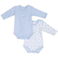 Set doua body copii Chicco, albastru cu roz, 50