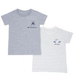 Set doua tricouri copii Chicco, alb, 92
