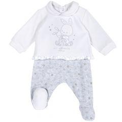 Set pantalon + bluza copii Chicco, alb, 62