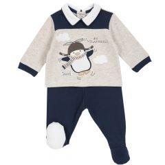Set pantalon + bluza copii Chicco, albastru deschis, 56