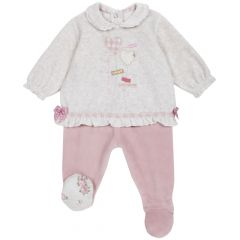 Set pantalon + bluza copii Chicco, corai, 56