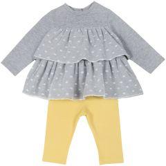 Set pantalon + bluza copii Chicco, galben deschis, 68