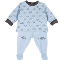 Set pantalon si bluza copii Chicco, albastru deschis, 68