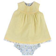 Set rochita si chilotel pentru fetite, Chicco, galben deschis, 80