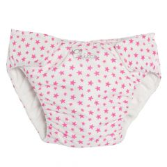 Slipi baie fetite, Chicco, alb cu roz, 86