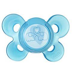 Suzeta Chicco silicon Physio Comfort, forma ortodontica, 6-12 luni, bleu