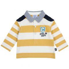 Tricou copii Chicco, alb cu galben, 92