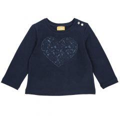 Tricou copii Chicco, albastru inchis, 86