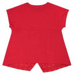 Tricou copii Chicco, dantela si fundita, rosu, 116