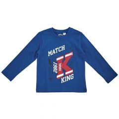 Tricou copii Chicco, maneca lunga, albastru deschis, 128