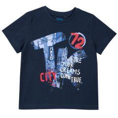Tricou copii Chicco, maneca scurta, albastru, 116