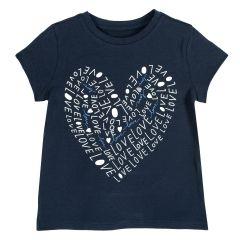 Tricou copii Chicco, maneca scurta, albastru inchis, 122