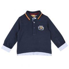 Tricou copii Chicco, polo, albastru inchis, 92