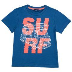 Tricou copii Chicco Surf, maneca scurta, albastru deschis, 110