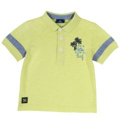 Tricou copii tip Polo, Chicco, guler, verde, 104