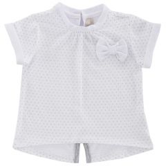 Tricou maneca scurta copii Chicco, fetite, alb, 74