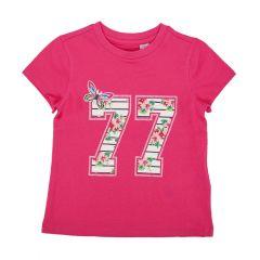 Tricou maneca scurta copii Chicco, fetite, ciclamen, 122