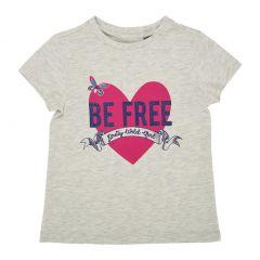 Tricou maneca scurta copii Chicco, fetite, gri deschis, 122