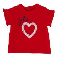 Tricou maneca scurta copii Chicco, fetite, rosu, 68