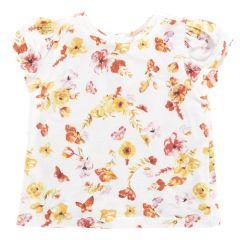 Tricou maneca scurta, copii, Chicco, imprimeu floral, fete, 104