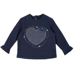 Tricou copii Chicco, albastru inchis, 62