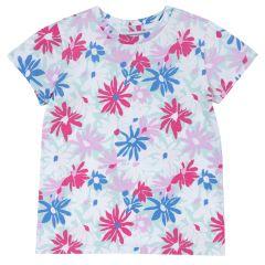 Tricou copii Chicco, maneca scurta si imprimeu floral, 110