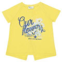 Tricou copii Chicco, maneca scurta, fete, galben, 116