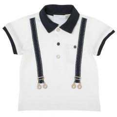 Tricou pentru copii, Chicco, polo, alb, 62