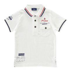 Tricou pentru copii Chicco, polo cu maneca scurta, alb, 116