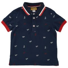 Tricou polo copii Chicco, bleumarin, 104
