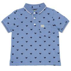 Tricou pentru copii Chicco, polo cu maneca scurta, albastru, 116