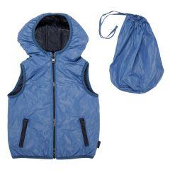 Vesta reversibila copii Chicco, Thermore, albastru si bleumarin, 87276