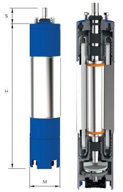 Motor submersibil de 6`` 400V 7.5 kw
