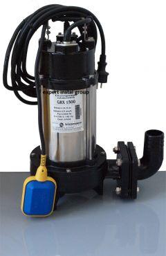 Pompa cu tocator GRX 1500 W debit=15 mc/h h=14 metri