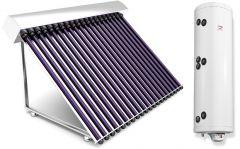 Sistem complet  panouri solare tuburi vidate 2 persoane varianta TVIB-2S-120