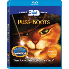 Motanul Incaltat / Puss in Boots - combo (BLU-RAY 3D+2D)