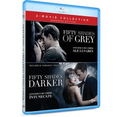 Pachet Cincizeci de umbre ale lui Grey + Cincizeci de umbre intunecate / Fifty Shades of Grey + Fifty Shades Darker  - (2 filme BLU-RAY)