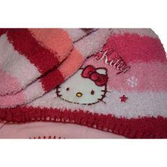 Set caciula-manusi Hello Kitty-Roz