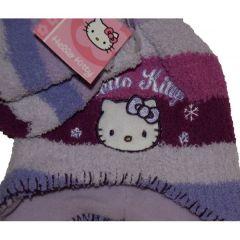 Set caciula-manusi Hello Kitty-Mov