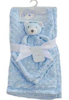Paturica bebelusi cu jucarie-Bleu