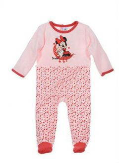 Pijama ML Minnie bebe-Rosu