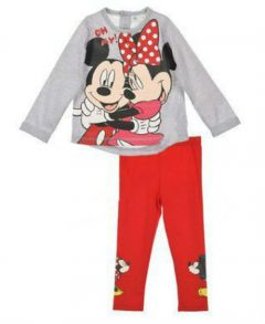 Set 2 piese  ML Minnie BEBE -Gri
