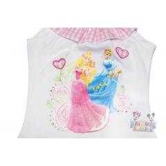 Set Bluza/pantalon scurt Princess -Alb