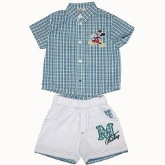 Set Camasa/pantalon - bermuda Mickey