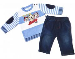 Set pulover-blug Mickey-Bleu