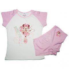 Set tricou-boxer Minnie -Alb/Roz