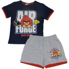 Set  tricou MS- PS Angry Birds-Bleumarin