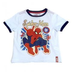 Set  tricou ms-PS Spiderman-Alb