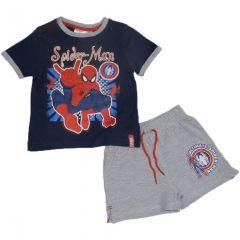 Set  tricou ms-PS Spiderman-Bleumarin